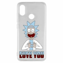 Чохол для Xiaomi Mi8 Rick and Morty fack and love you