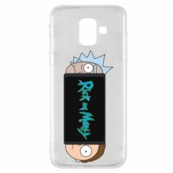 Чехол для Samsung A6 2018 Rick and Morty Game Console