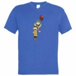 Мужская футболка  с V-образным вырезом Rick and Morty: It 2