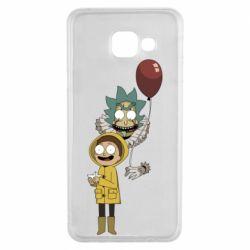 Чехол для Samsung A3 2016 Rick and Morty: It 2