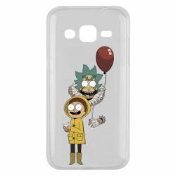 Чехол для Samsung J2 2015 Rick and Morty: It 2