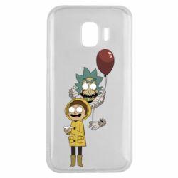 Чехол для Samsung J2 2018 Rick and Morty: It 2