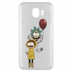 Чехол для Samsung J4 Rick and Morty: It 2