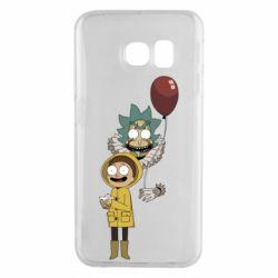 Чехол для Samsung S6 EDGE Rick and Morty: It 2