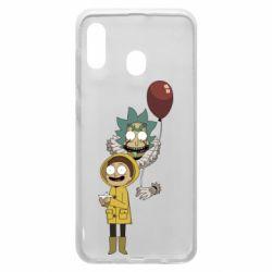 Чехол для Samsung A20 Rick and Morty: It 2
