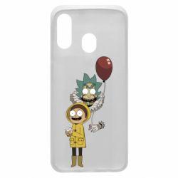 Чехол для Samsung A40 Rick and Morty: It 2