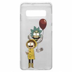 Чехол для Samsung S10+ Rick and Morty: It 2