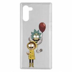 Чехол для Samsung Note 10 Rick and Morty: It 2