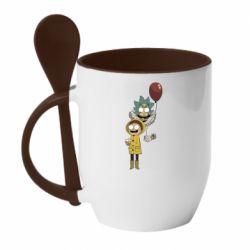 Кружка с керамической ложкой Rick and Morty: It 2