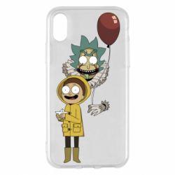 Чехол для iPhone X/Xs Rick and Morty: It 2