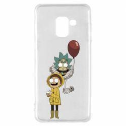 Чехол для Samsung A8 2018 Rick and Morty: It 2