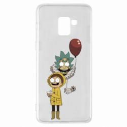 Чехол для Samsung A8+ 2018 Rick and Morty: It 2