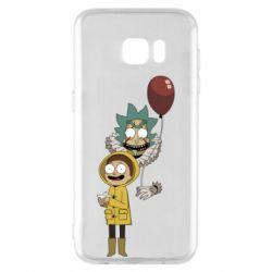 Чехол для Samsung S7 EDGE Rick and Morty: It 2