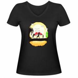 Жіноча футболка з V-подібним вирізом Rick and Morty Journey