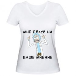 Жіноча футболка з V-подібним вирізом Rick and Morty Русская версия 2