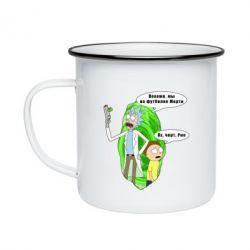 Кружка емальована Rick and Morty Русская версия