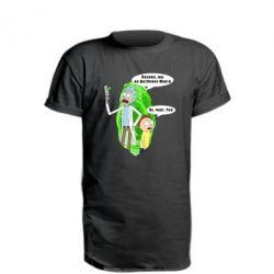 Подовжена футболка Rick and Morty Русская версия