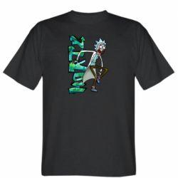 Чоловіча футболка Rick and text Morty