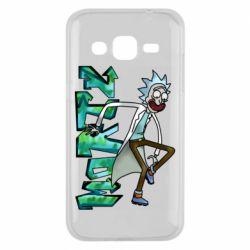 Чохол для Samsung J2 2015 Rick and text Morty