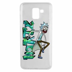 Чохол для Samsung J6 Rick and text Morty