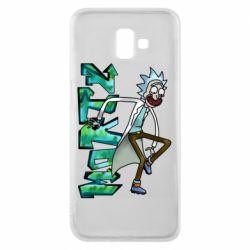 Чохол для Samsung J6 Plus 2018 Rick and text Morty