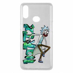 Чохол для Samsung A10s Rick and text Morty