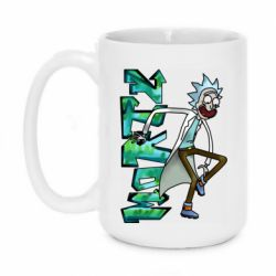 Кружка 420ml Rick and text Morty