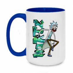 Кружка двоколірна 420ml Rick and text Morty