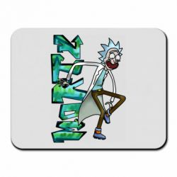 Килимок для миші Rick and text Morty