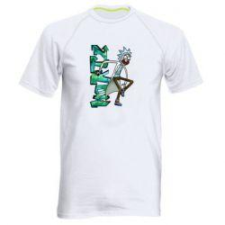 Чоловіча спортивна футболка Rick and text Morty
