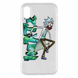 Чохол для iPhone X/Xs Rick and text Morty