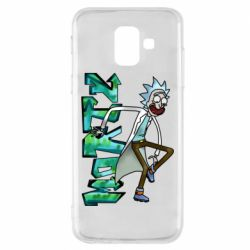 Чохол для Samsung A6 2018 Rick and text Morty