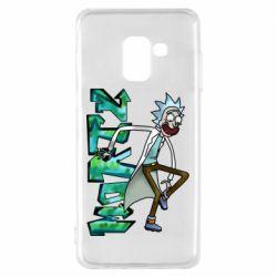Чохол для Samsung A8 2018 Rick and text Morty