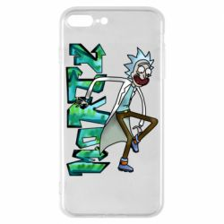 Чохол для iPhone 8 Plus Rick and text Morty