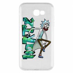 Чохол для Samsung A7 2017 Rick and text Morty