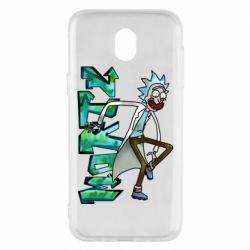 Чохол для Samsung J5 2017 Rick and text Morty