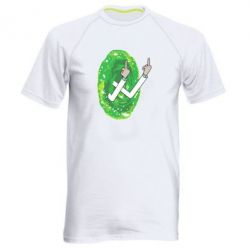 Мужская спортивная футболка Rick Fuck you all
