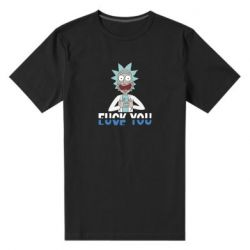 Мужская стрейчевая футболка Rick fuck you
