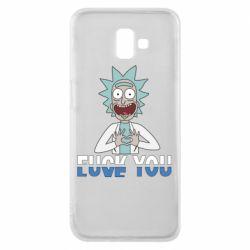 Чехол для Samsung J6 Plus 2018 Rick fuck you