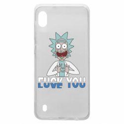 Чехол для Samsung A10 Rick fuck you
