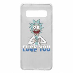 Чехол для Samsung S10 Rick fuck you