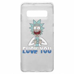 Чехол для Samsung S10+ Rick fuck you