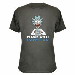 Камуфляжная футболка Rick fuck you