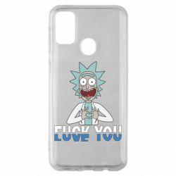 Чехол для Samsung M30s Rick fuck you