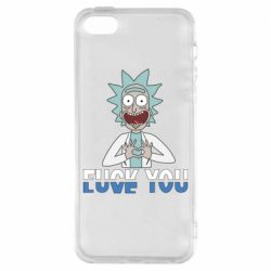 Чехол для iPhone5/5S/SE Rick fuck you