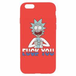 Чехол для iPhone 6/6S Rick fuck you