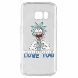 Чехол для Samsung S7 Rick fuck you