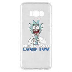 Чехол для Samsung S8 Rick fuck you