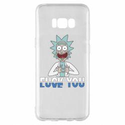 Чехол для Samsung S8+ Rick fuck you
