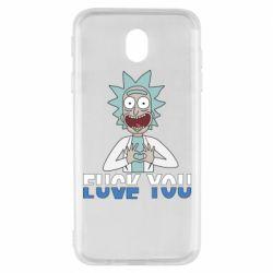 Чехол для Samsung J7 2017 Rick fuck you